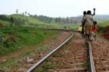 Children in Uganda walk miles to get fresh water.